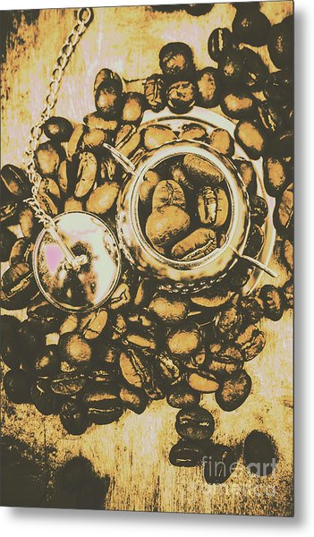 Vintage Cafe Artwork Metal Print