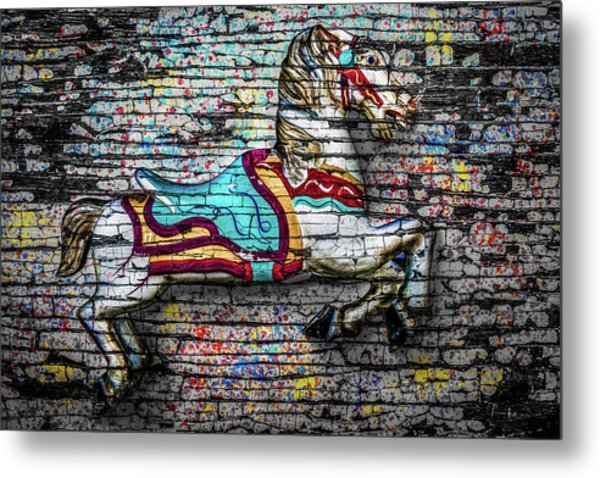 Metal Print featuring the photograph Vintage Carousel Horse by Michael Arend