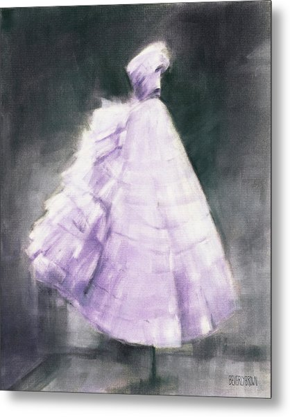 Vintage Chic Lavender And Gray Metal Print by Beverly Brown