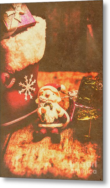 Vintage Christmas Art Metal Print