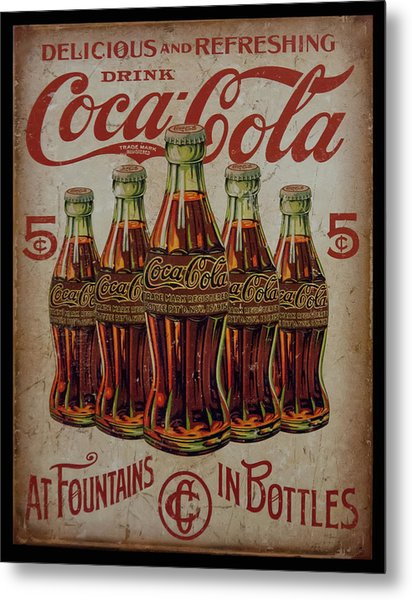 vintage Coca Cola sign Metal Print
