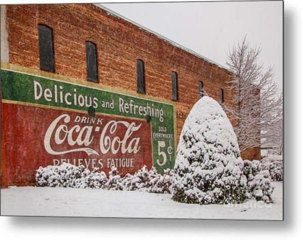 Vintage Coca Cola Sign New Albany Mississippi Metal Print