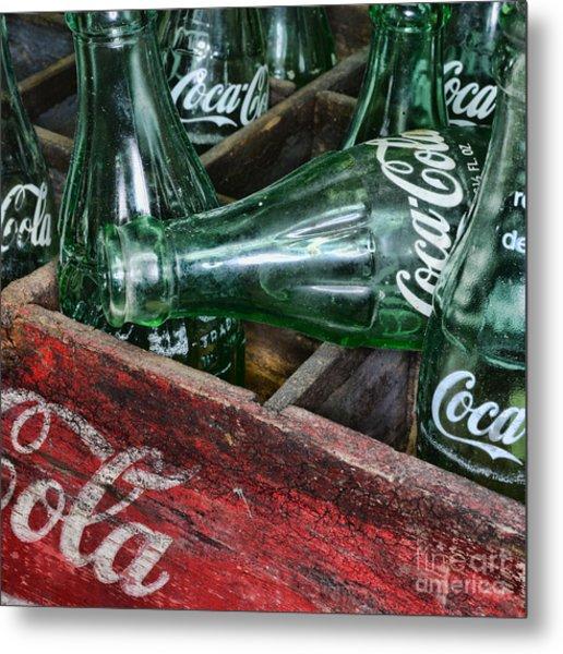 Vintage Coke Square Format Metal Print