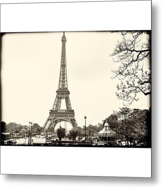 Vintage Eiffel Landscape  #paris Metal Print