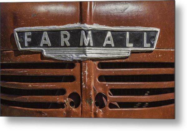 Vintage Farmall Tractor Metal Print