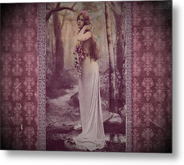 Vintage Femme Fatale Metal Print