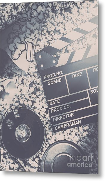 Vintage Film Production Metal Print
