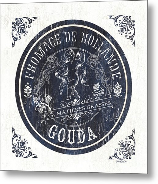 Vintage French Cheese Label 1 Metal Print