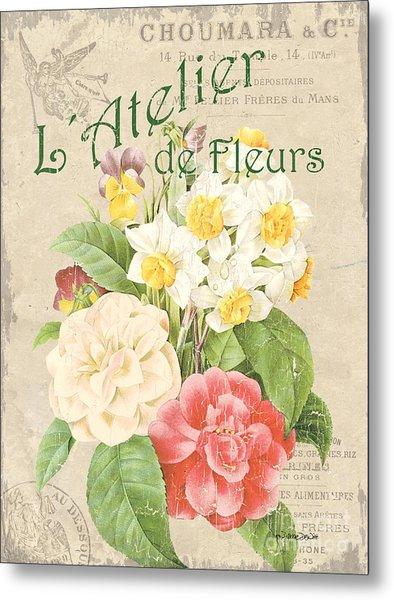 Vintage French Flower Shop 1 Metal Print