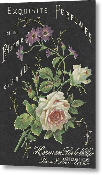 Vintage French Perfume  Metal Print