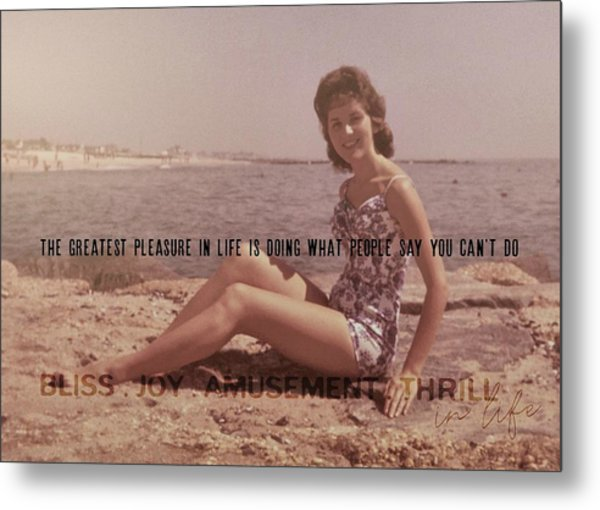 Vintage Glamour Quote Metal Print by JAMART Photography
