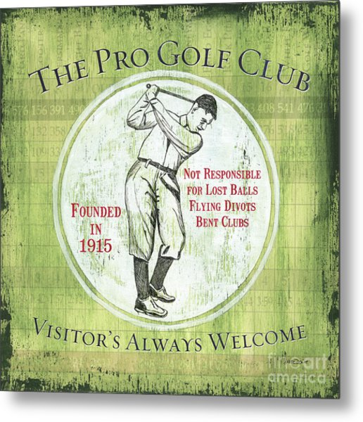 Vintage Golf Green 2 Metal Print