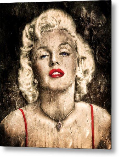 Vintage Grunge Goddess Marilyn Monroe  Metal Print