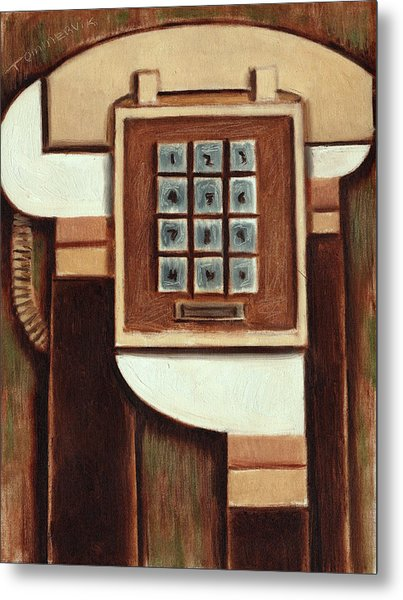 Tommervik Vintage Landline Phone Art Print Metal Print