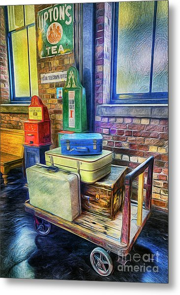 Vintage Luggage Metal Print