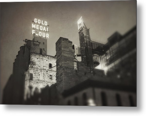 Vintage Mill City Metal Print