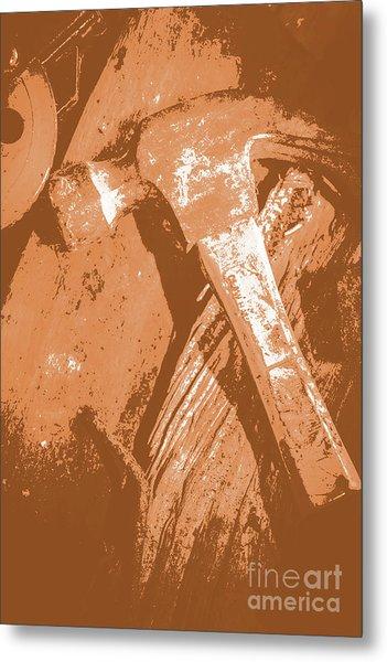 Vintage Miners Hammer Artwork Metal Print