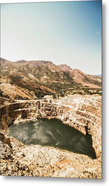 Vintage Mining Pit Metal Print