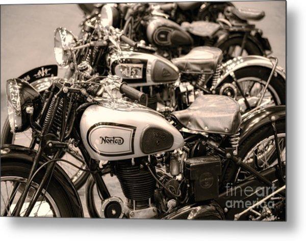 Vintage Motorcycles Metal Print
