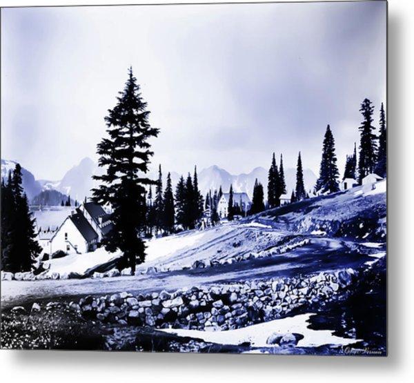 Vintage Mount Rainier Lodge Early 1900 Era... Metal Print