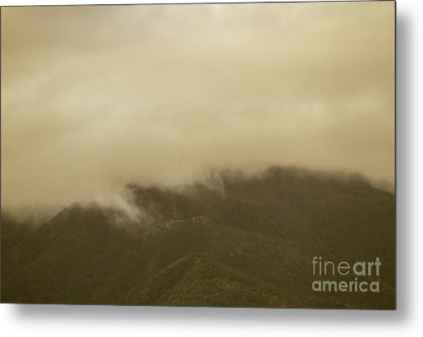 Vintage Mountains Covered By Cloud Metal Print