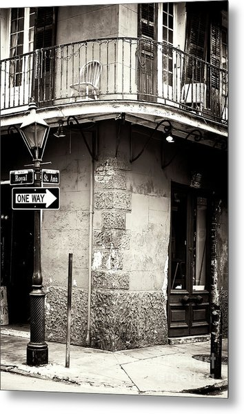 Vintage New Orleans French Quarter Metal Print
