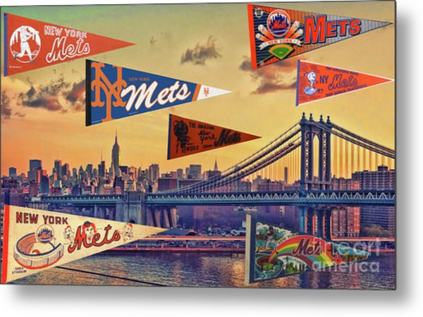 Vintage New York Mets Metal Print