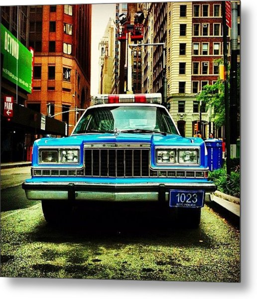 Vintage Nypd. #car #nypd #nyc Metal Print