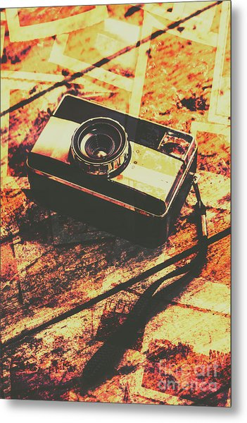 Vintage Old-fashioned Film Camera Metal Print
