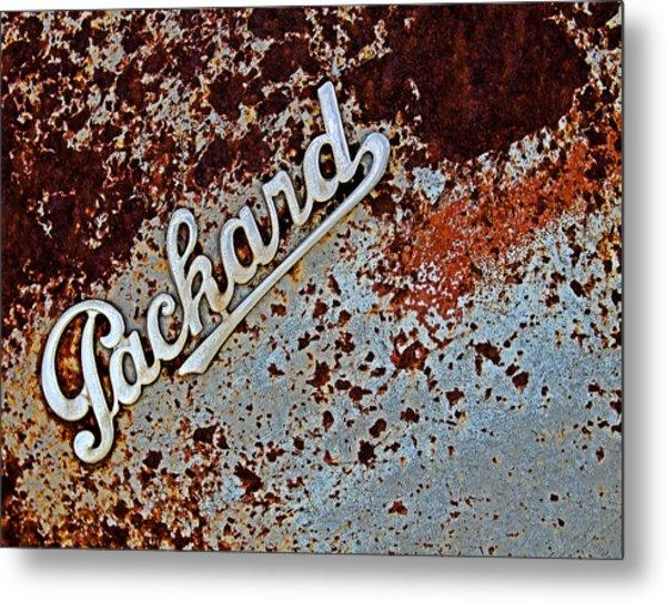 Vintage Packard Emblem Metal Print