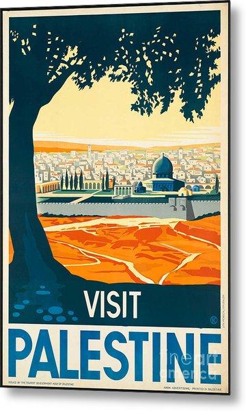 Vintage Palestine Travel Poster Metal Print