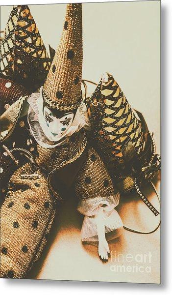 Vintage Party Puppet Metal Print