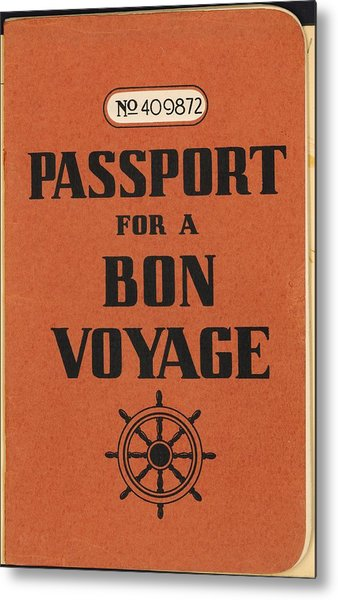 Vintage Passport Metal Print