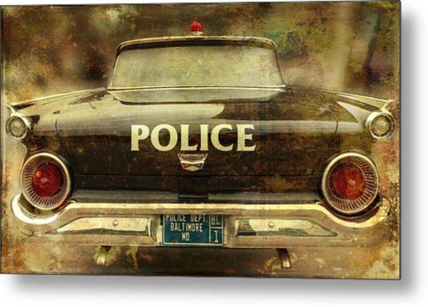 Vintage Police Car - Baltimore, Maryland Metal Print