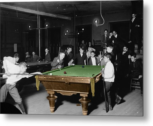 Vintage Pool Hall Metal Print
