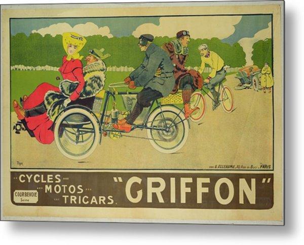 Vintage Poster Bicycle Advertisement Metal Print