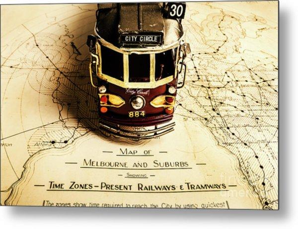 Vintage Railways And Tramways Metal Print