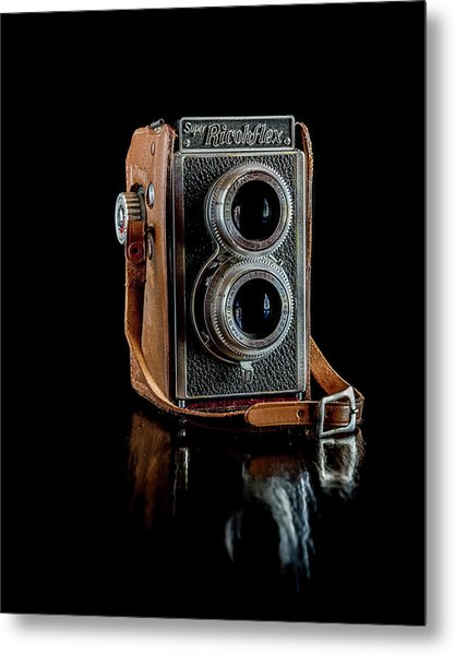 Vintage Ricohflex Camera Metal Print