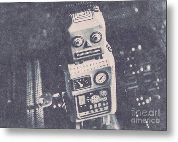 Vintage Robot Toy Metal Print