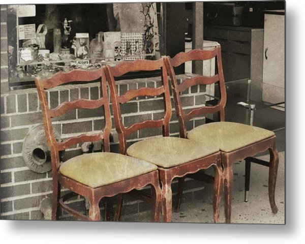 Vintage Seating Metal Print by JAMART Photography