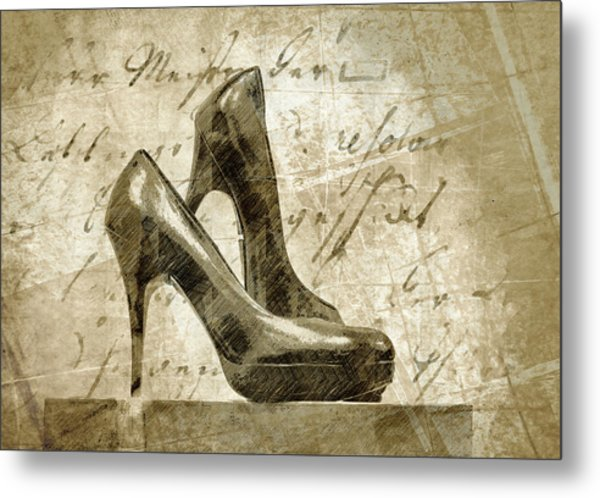 Vintage Shoes Metal Print