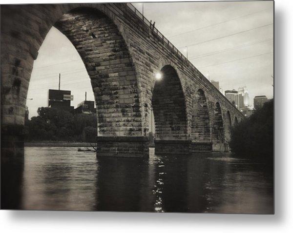 Vintage Stone Arch Bridge Metal Print