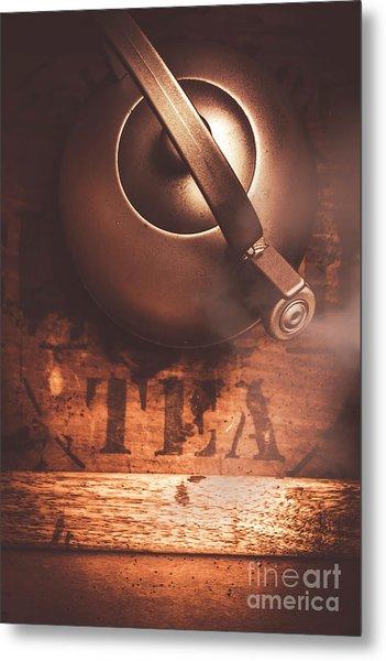 Vintage Tea Break Metal Print