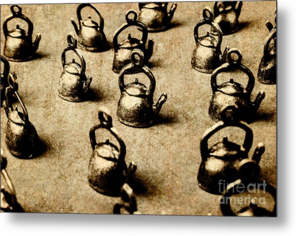Vintage Teapot Party Metal Print