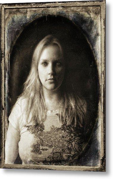 Vintage Tintype Ir Self-portrait Metal Print