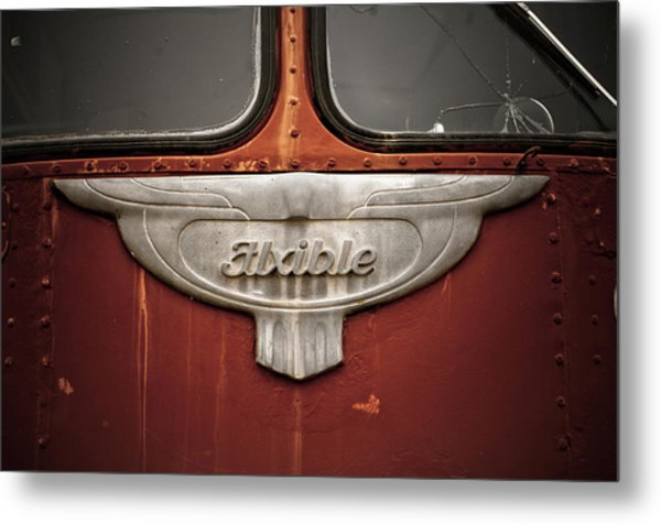 Vintage Tour Bus Metal Print