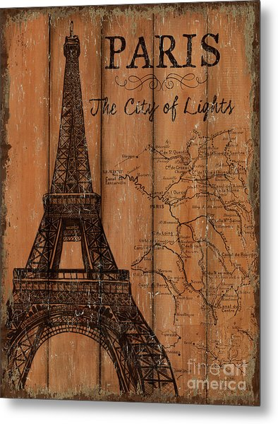 Vintage Travel Paris Metal Print