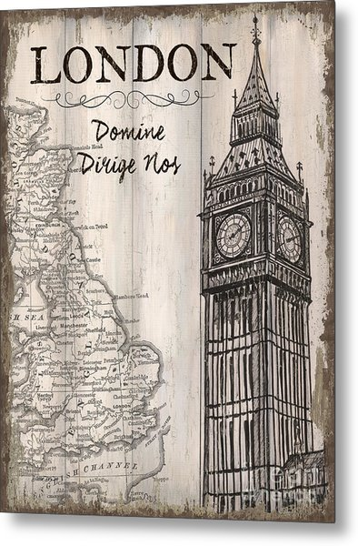 Vintage Travel Poster London Metal Print