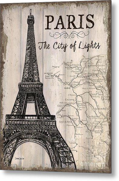 Vintage Travel Poster Paris Metal Print