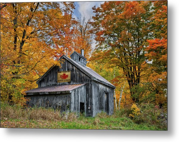 Metal Print featuring the photograph Vermont Sugarhouse by Expressive Landscapes Fine Art Photography by Thom